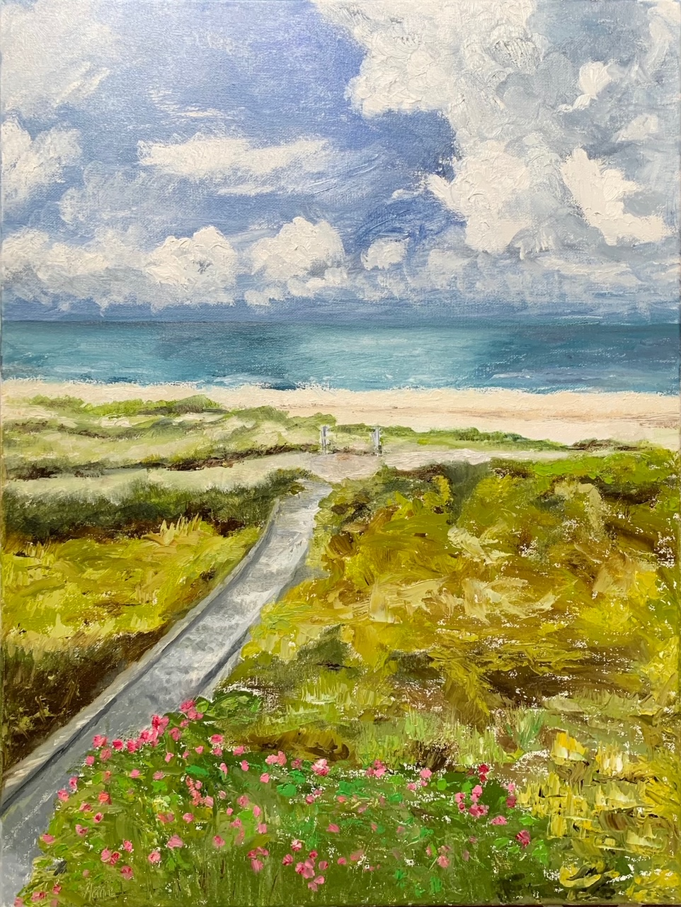 Escape to Water and Sky Solo Exhibit at Memphis Botanic Garden by Ann Brown Thomason