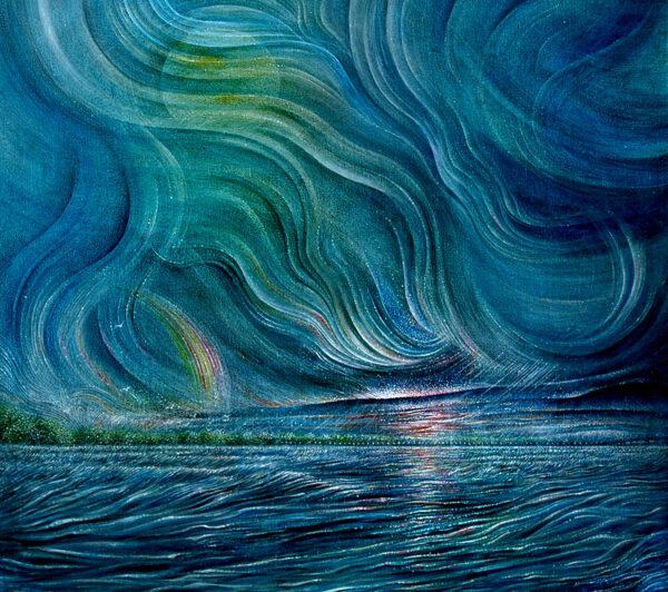 """Nocturne, Pickwick Moonrise"" / Acrylic on canvas"