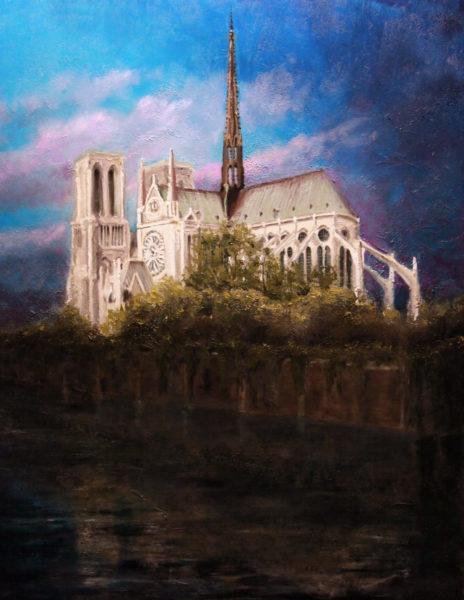 Notre Dame de Paris 40×30 oil on masonite 2014