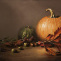 October Harvest 12×18 oil on hardboard 2015