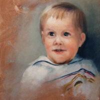 Sarah Everitt child 14×11 oil on craddled canvas panel 4 20