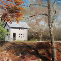 Shelby Farms playhouse 14×23.75 2012 oil on birch panel 2012