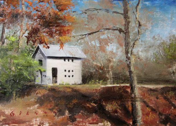 Shelby Farms playhouse 14×23.75 2012 oil on birch panel 2012