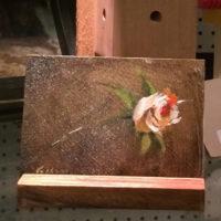 long stem rose oil on hardboard 2015