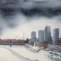Imaginary Nashville Winter Scene #2
