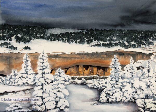 Mesa Verde in the Snow