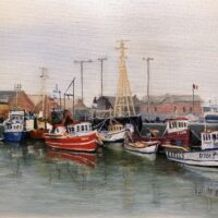 Fishing Fleet in Port at Howth, Ireland