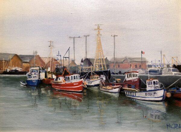 Fishing Fleet in Port at Howth, Ireland