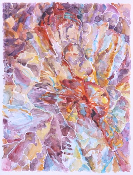 2015 Abstraccion 1, watercolor (plein air), 5.5×7.5