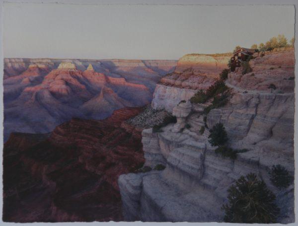 2014 Last Kiss, watercolor, 30×22.5