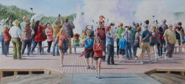 2020 Audience of One, watercolor, 42×19