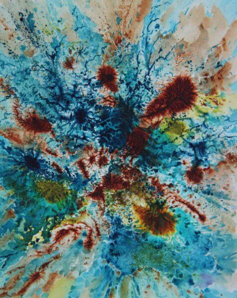 2020 Covid 1, watercolor, 8.25×10.5