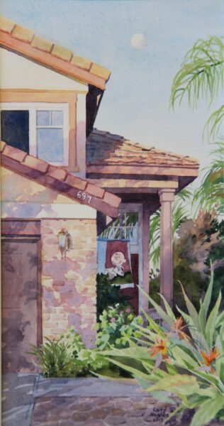 2017 They Stand at the Door and Knock, watercolor, 6×11, collection Milt Hughes