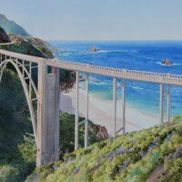 2020 Bixby Bridge, watercolor, 23×17 (coll. Milt Hughes)