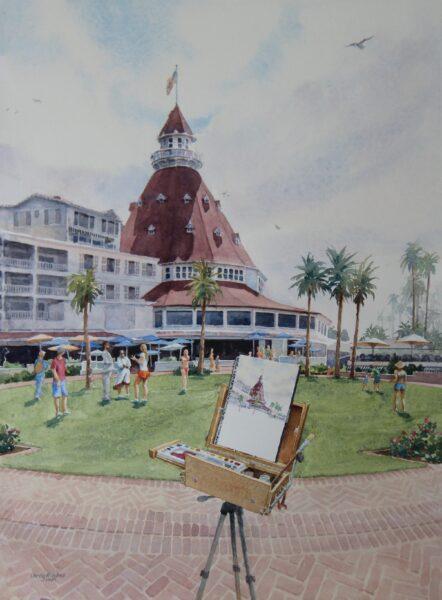 2021 Painting the Del, plein-air-studio watercolor, 0x13.5